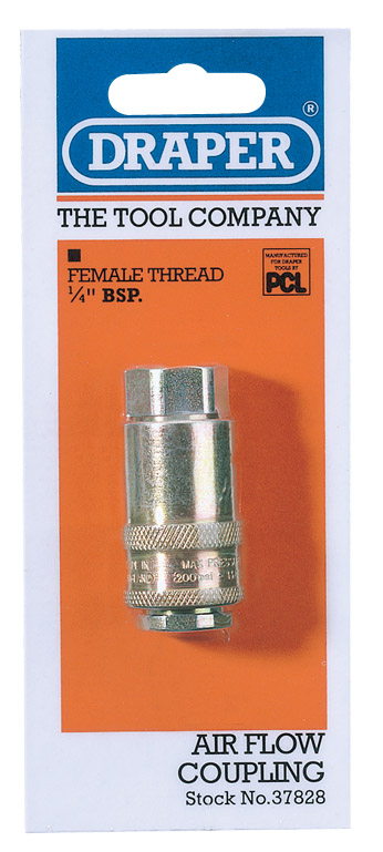 "Draper 37828 A21Cf02  Air Tools 14"" Parallel Female Coupling Thumbnail 1"