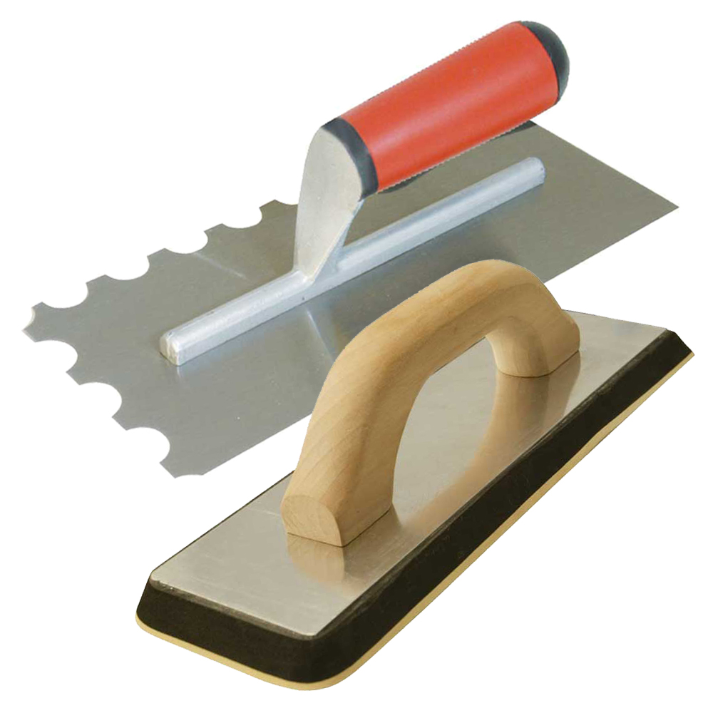 """11/"""" New 280mm Soft Grip Tile Tilers Tiling Notched Adhesive Spreading Trowel"""