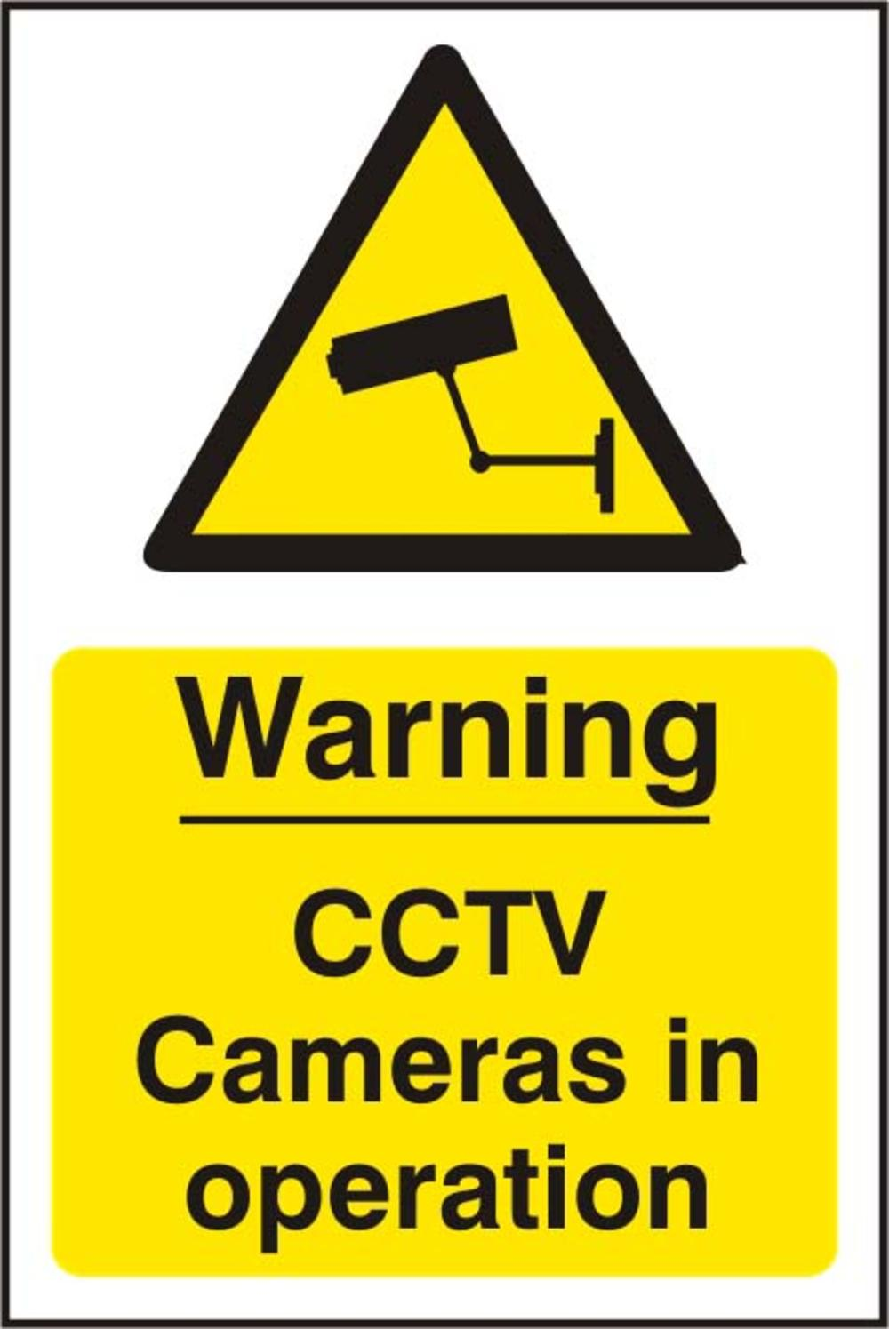 Warning Cctv Cameras In Operation Polycarbonate 200 X