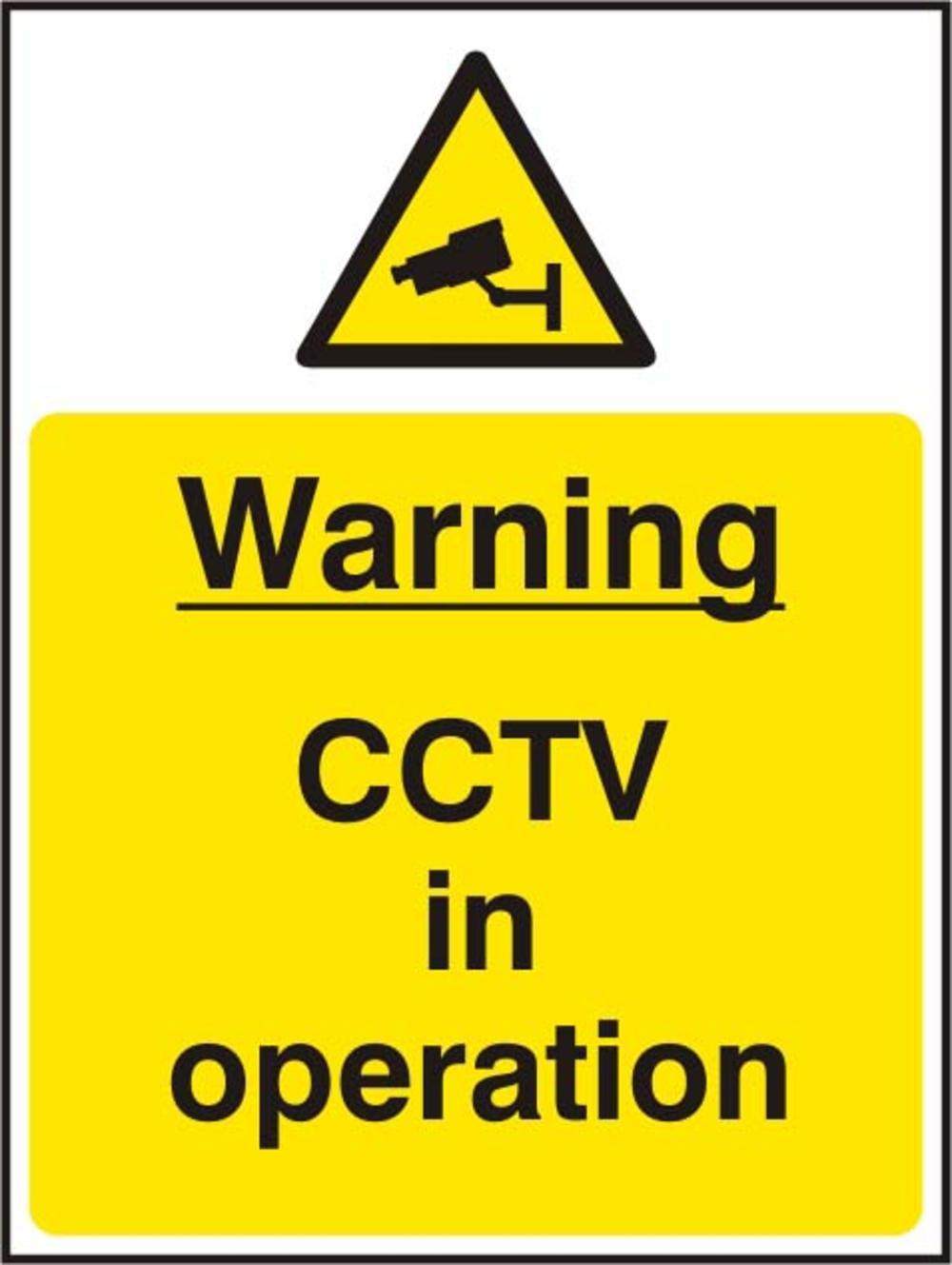 Warning Cctv In Operation Rigid Pvc 300 X 400mm Sign