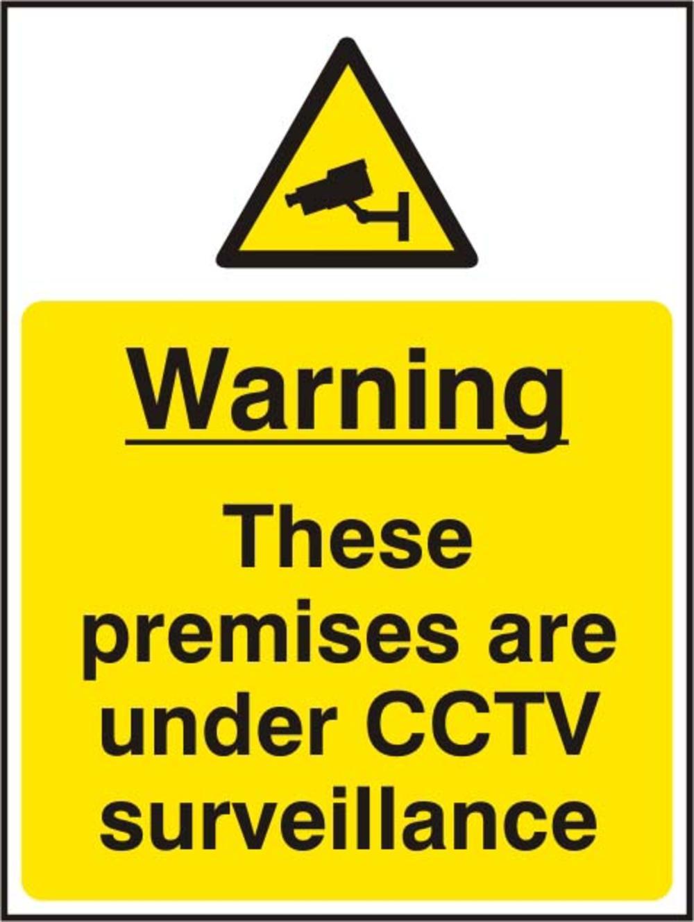 Warning These Premises Are Under Cctv Surveillance Rigid