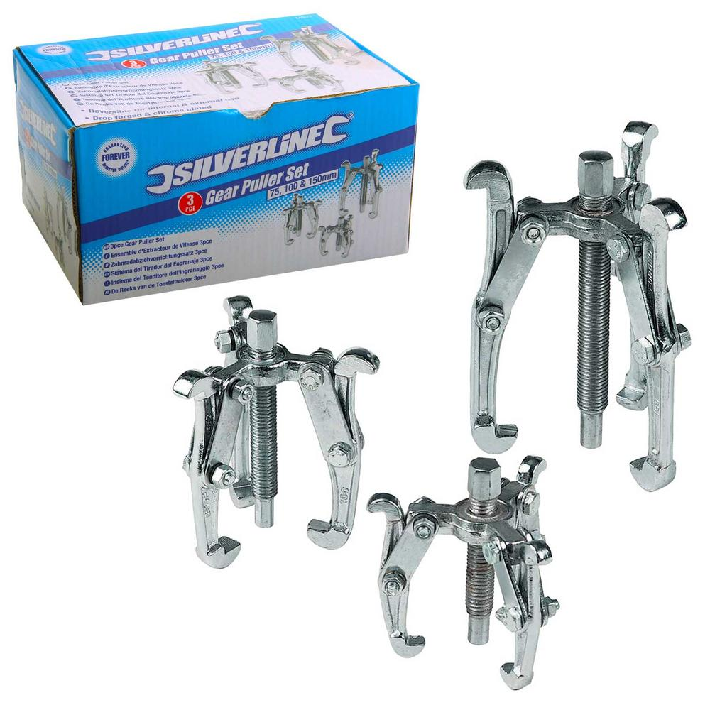Silverline Ms23 3 Piece Bearing And Gear Puller Set