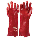 Silverline 868551 400mm Red PVC 'L' Large Size Gauntlets