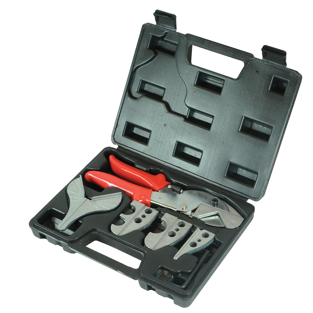 NEW SILVERLINE PVC MULTI HEAD CUTTER SET 251101 5 JAWS INCLUDES CARRY CASE