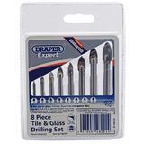 Draper 48221 TGDSET 8 Pack Tile And Glass Drill Bit Set