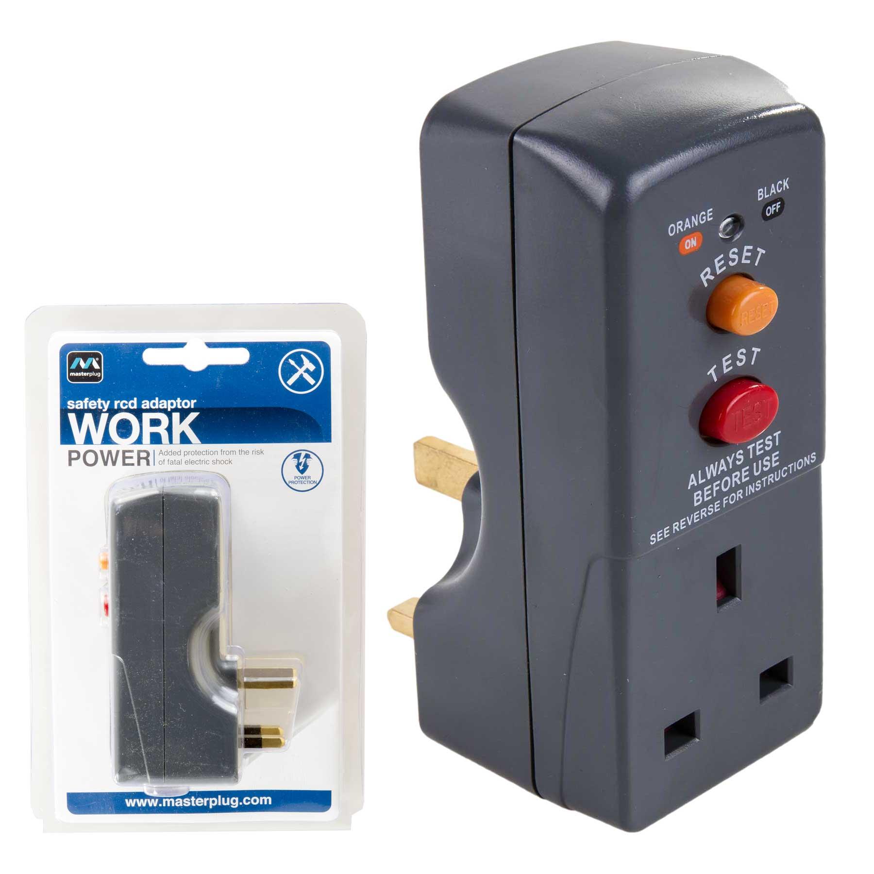 Fuse Box Rcd Keeps Tripping : Masterplug safety rcd adaptor circuit breaker
