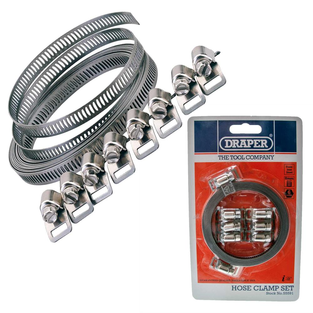 Draper 55591 HC8MM 8mm Hose Clamp Set