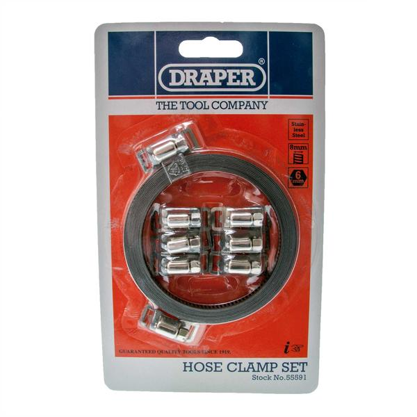 Draper 55591 HC8MM 8mm Hose Clamp Set Thumbnail 3