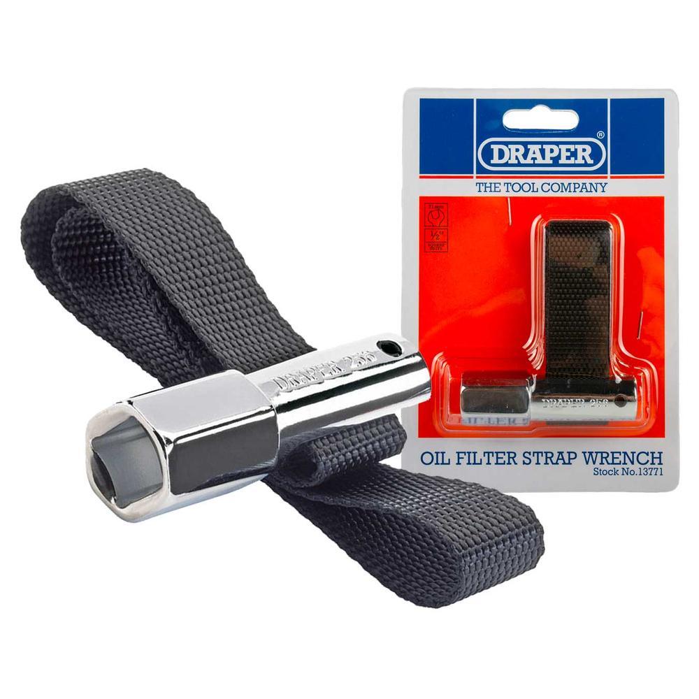 Draper 13771 256 1/2 Square Drive Oil Filter Strap Wrench