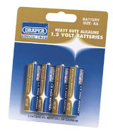 Draper 61834 DLR6/HD 4 Heavy Duty AA-Size Alkaline Batteries