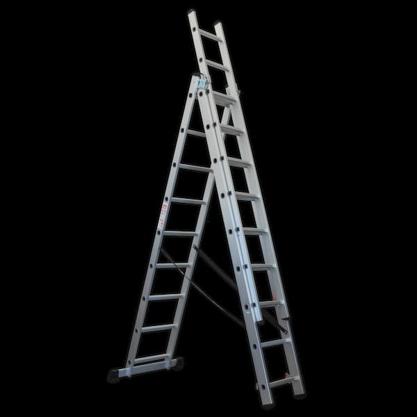 Sealey ACL3 Aluminium Extension Combination Ladder 3x9 EN 131  Thumbnail 1