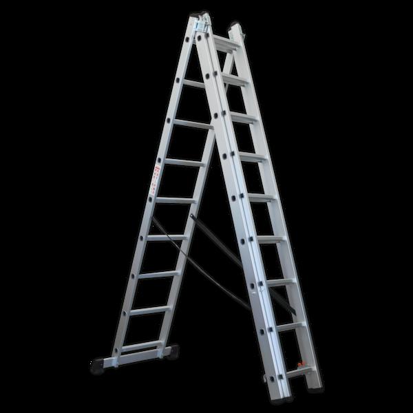 Sealey ACL3 Aluminium Extension Combination Ladder 3x9 EN 131  Thumbnail 4
