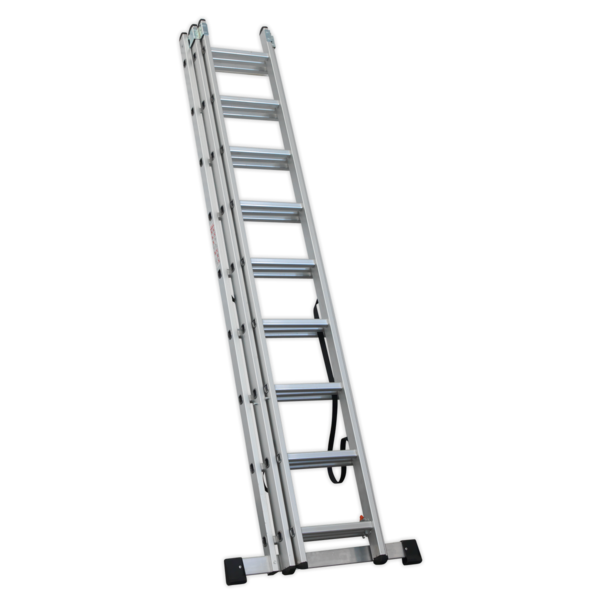 Sealey ACL3 Aluminium Extension Combination Ladder 3x9 EN 131  Thumbnail 3