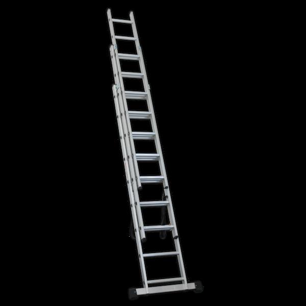 Sealey ACL3 Aluminium Extension Combination Ladder 3x9 EN 131  Thumbnail 2