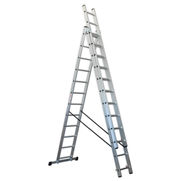 Sealey ACL312 Aluminium Extension Combination Ladder 3x12 EN 131  Thumbnail 1