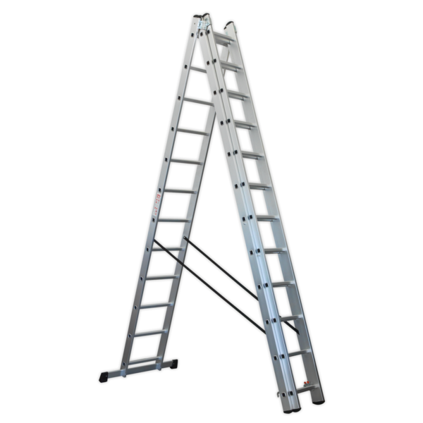 Sealey ACL312 Aluminium Extension Combination Ladder 3x12 EN 131  Thumbnail 4