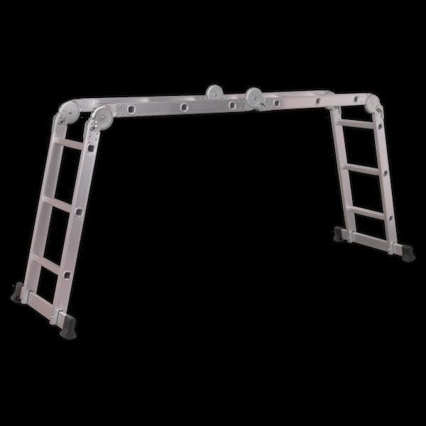 Sealey Aluminium Folding Platform Ladder 4-Way EN 131 Thumbnail 1