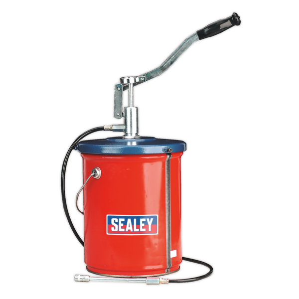 Sealey AK455 Bucket Greaser with Follower Plate 12.5kg Extra Heavy-Duty Thumbnail 1