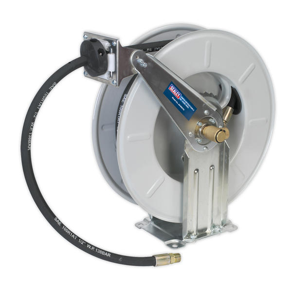 Sealey AK4567D Oil Hose Reel Retractable 10 Metre Thumbnail 1