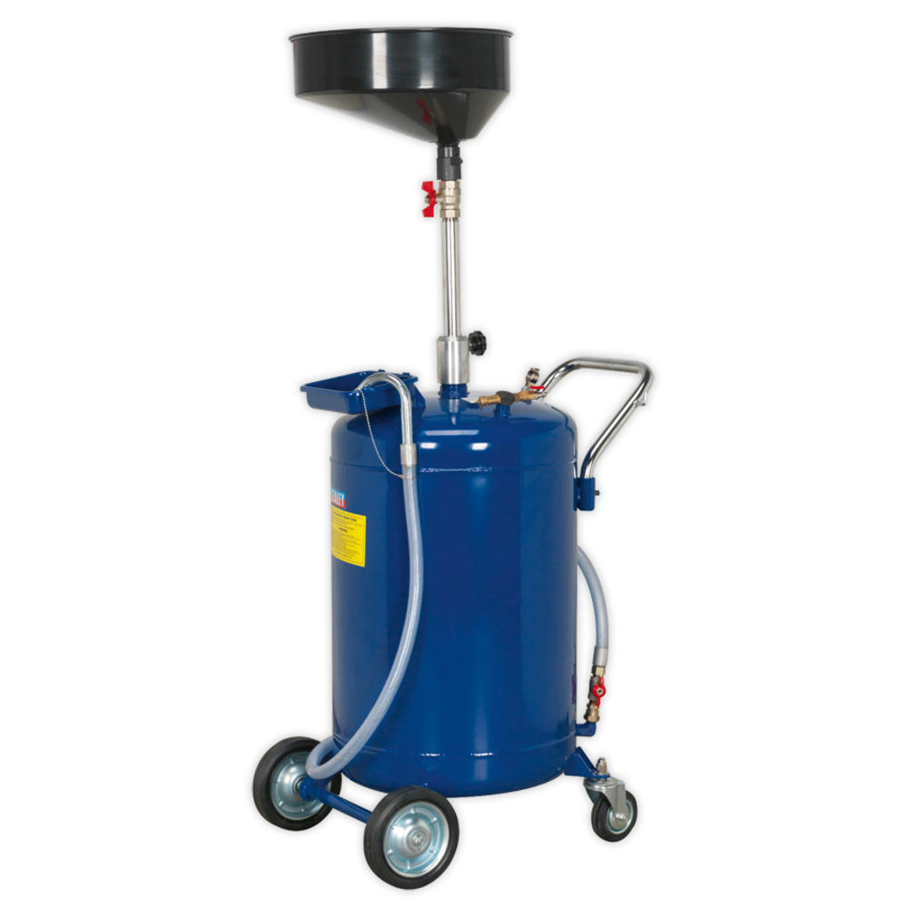 Sealey AK458DX Mobile Oil Drainer 110 Litre Air Discharge