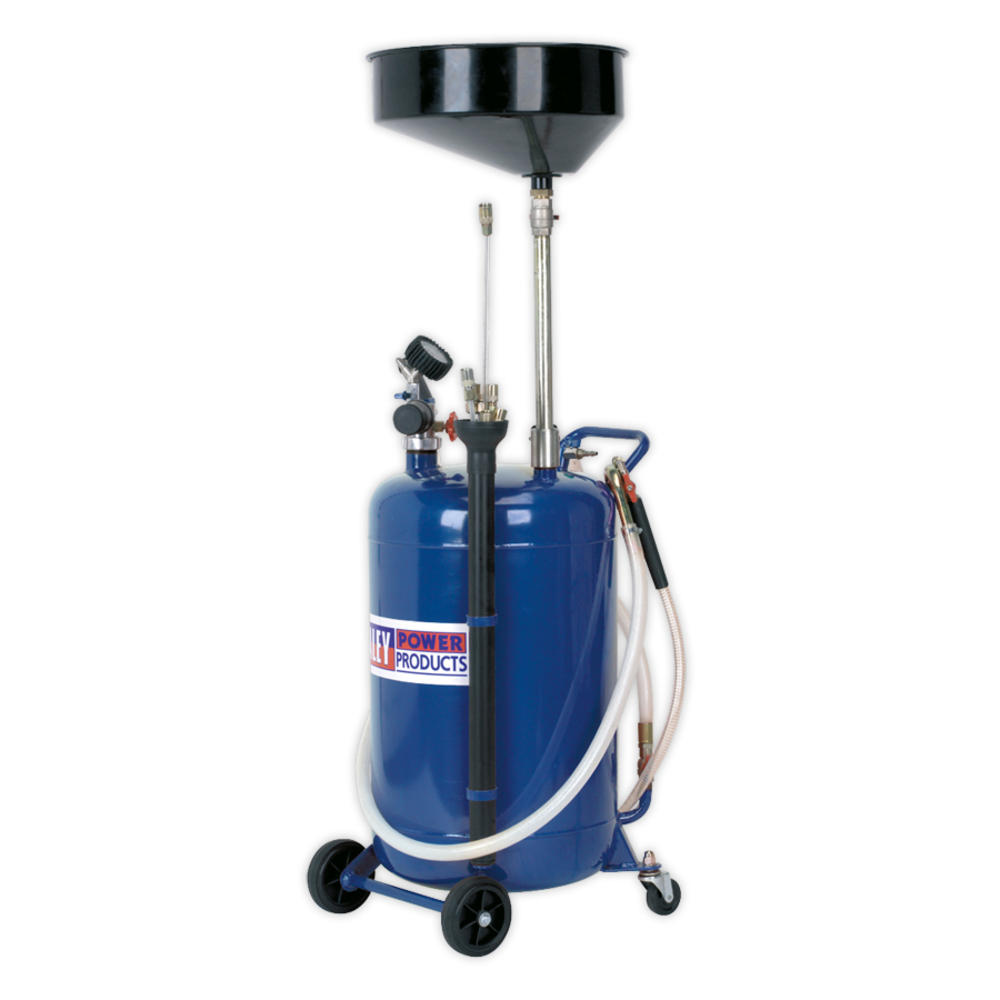 Sealey AK459DX Mobile Oil Drainer with Probes 90 Litre Air Discharge