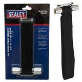 "Sealey AK6403 Oil Filter Strap Wrench 300mm Capacity 3/8"" & 1/2"" Sq Drive"