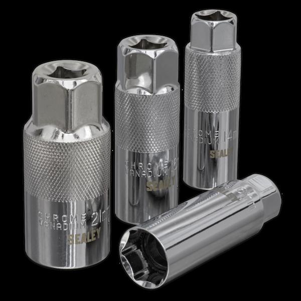 "Sealey AK6556 Spark Plug Socket Set 3/8"" Square Drive 4 Piece Thumbnail 2"