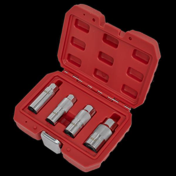 "Sealey AK6556 Spark Plug Socket Set 3/8"" Square Drive 4 Piece Thumbnail 4"