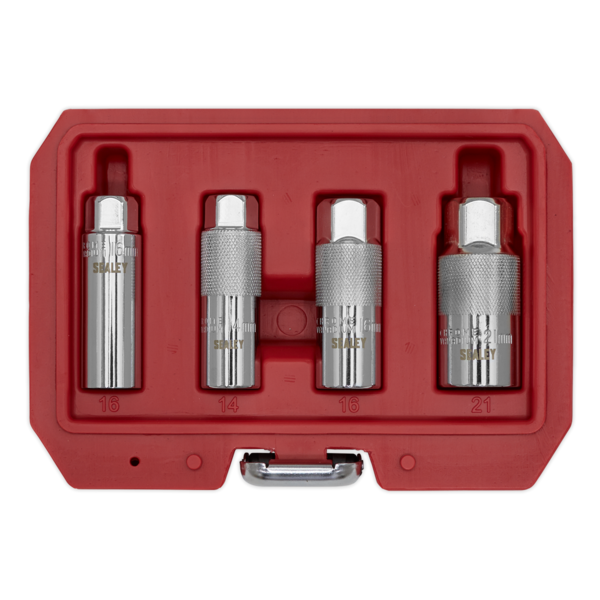 "Sealey AK6556 Spark Plug Socket Set 3/8"" Square Drive 4 Piece Thumbnail 3"