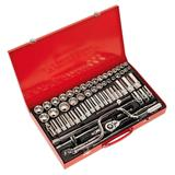 "Sealey Socket Set 3/8"" & 1/2"" Square Drive 6pt WallDrive Metric/Imperial (64 Pc)"