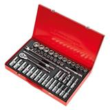 "Sealey AK6941 Socket Set 1/2"" Square Drive 6pt WallDrive Metric (46 Piece)"