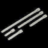 """Sealey AK766 Wobble Extension Bar Set 5pc 1/4""""Sq Drive"""