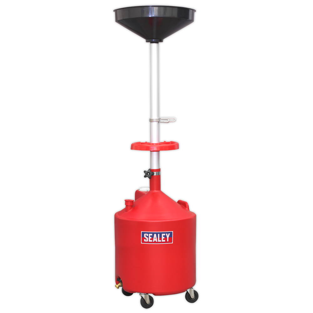Sealey AK80D Mobile Oil Drainer 80ltr Gravity Discharge