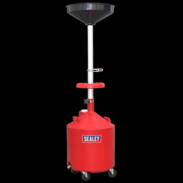 Sealey AK80D Mobile Oil Drainer 80ltr Gravity Discharge Thumbnail 1