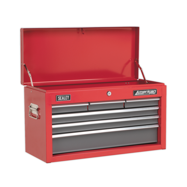 Sealey AP2201BB Topchest 6 Drawer with Ball Bearing Runners - Red Thumbnail 1