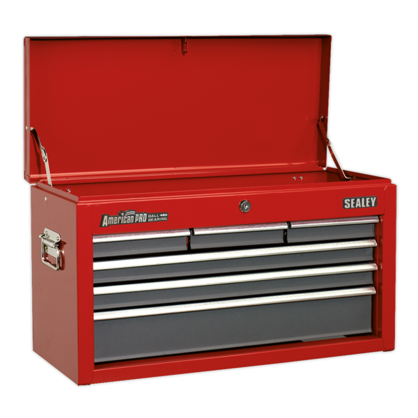 Sealey AP2201BB Topchest 6 Drawer with Ball Bearing Runners - Red Thumbnail 3