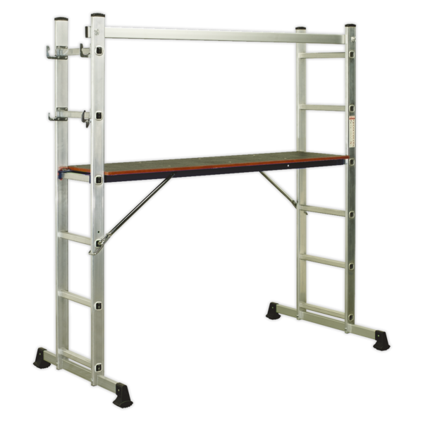 Sealey Aluminium Scaffold Ladder 4-Way EN 131 Thumbnail 1