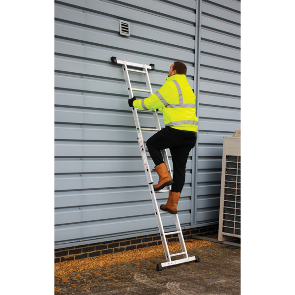 Sealey Aluminium Scaffold Ladder 4-Way EN 131 Thumbnail 2