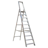 Sealey AXL10 Aluminium Step Ladder 10-Tread Industrial BS 2037/1