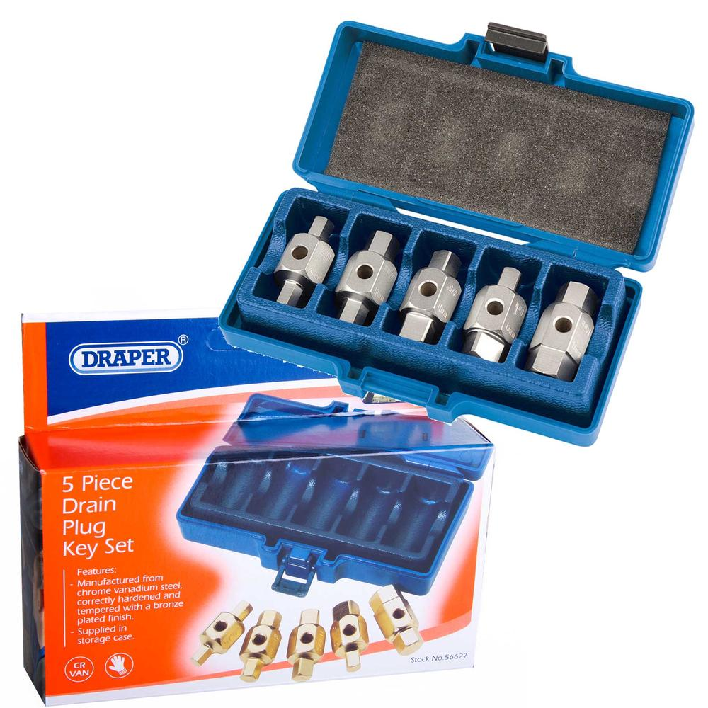 Draper 56627 DpkSet 5 Piece Sump Drain Plug Set