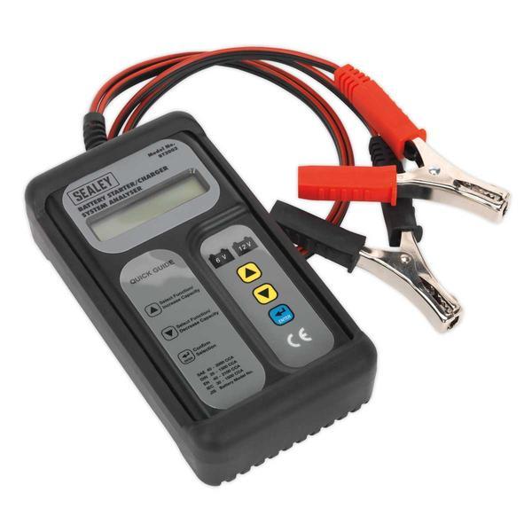 Sealey Digital Battery & Alternator Tester 6-12V Battery 6, 12, 24V Alternator Thumbnail 1