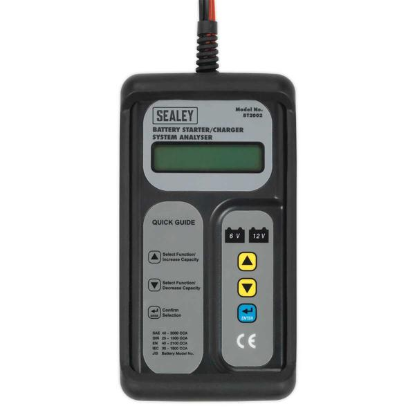 Sealey Digital Battery & Alternator Tester 6-12V Battery 6, 12, 24V Alternator Thumbnail 2