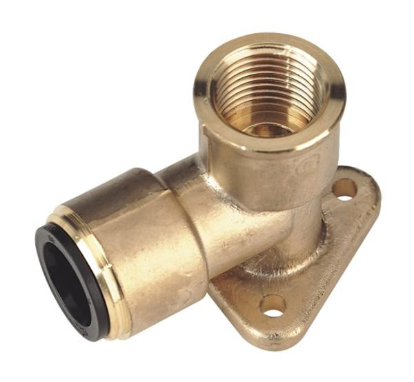 "Sealey CAS15BWE 15mm x 1/2"" BSP Brass Wingback Elbow Thumbnail 1"