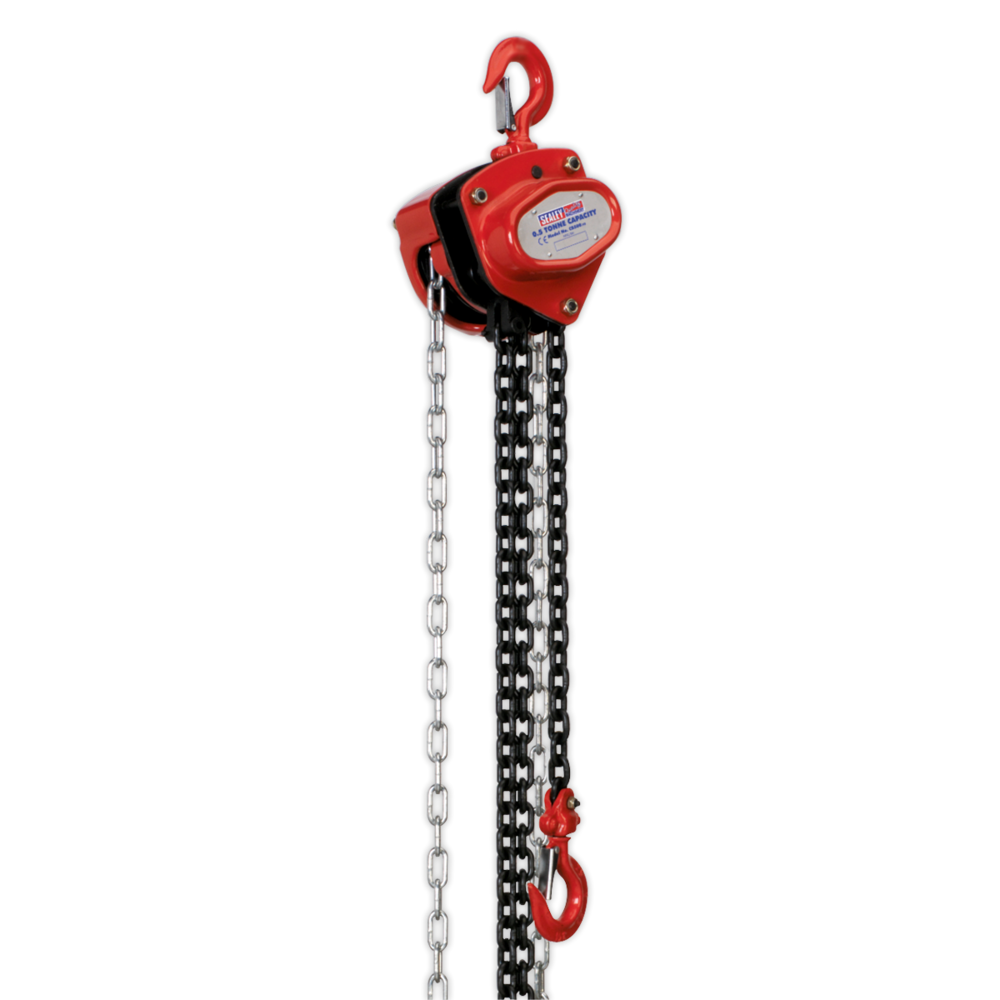 Sealey CB500 Chain Block 0.5 Tonne 2.5mtr