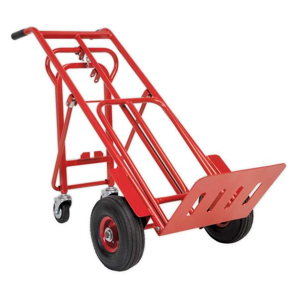 Sealey CST989 Sack Truck 3-in-1 with Pneumatic Tyre 250kg Capacity Thumbnail 1