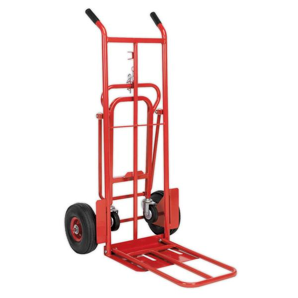 Sealey CST989 Sack Truck 3-in-1 with Pneumatic Tyre 250kg Capacity Thumbnail 2