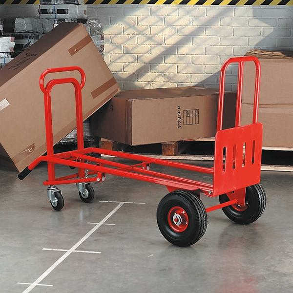 Sealey CST989 Sack Truck 3-in-1 with Pneumatic Tyre 250kg Capacity Thumbnail 4