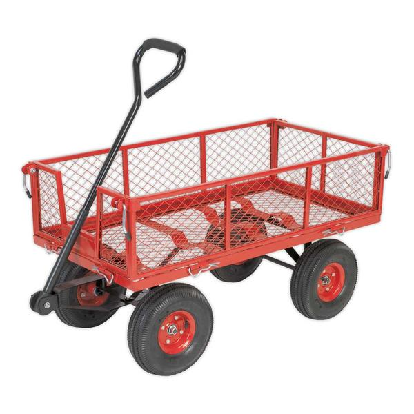 Sealey CST997 Platform Truck Removable Sides Pneumatic Tyres 200kg Capacity Thumbnail 2