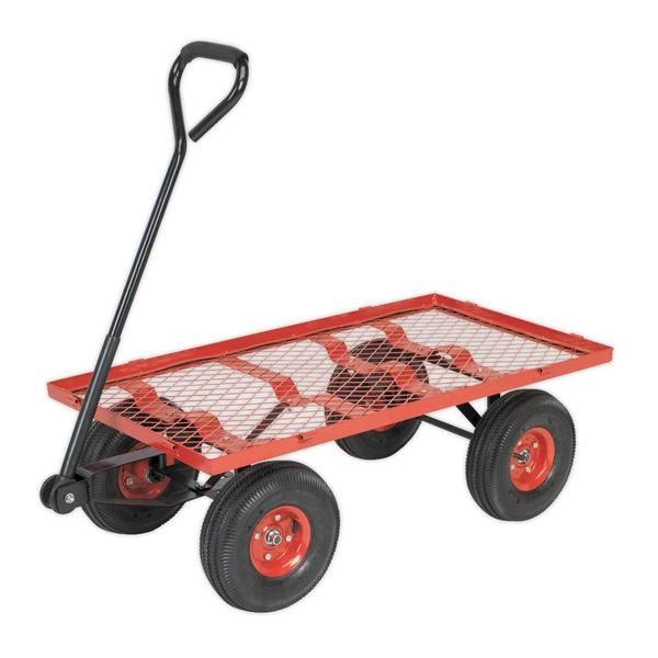 Sealey CST997 Platform Truck Removable Sides Pneumatic Tyres 200kg Capacity Thumbnail 3