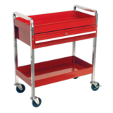Sealey CX101D Trolley 2-Level Extra Heavy-Duty with Lockable Drawer